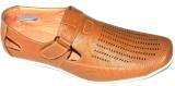BLK LEATHER Men TAN Sandals