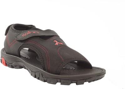 Spinn Men Black, Red Sandals