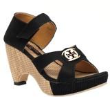 Trilokani Women Black Heels