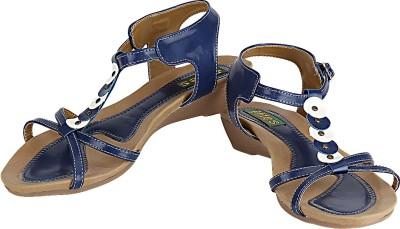 Lites Women Blue, Brown Flats