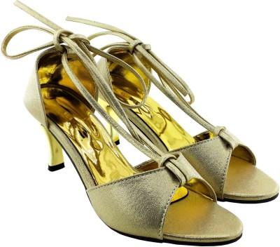 Plutos Women Gold Heels