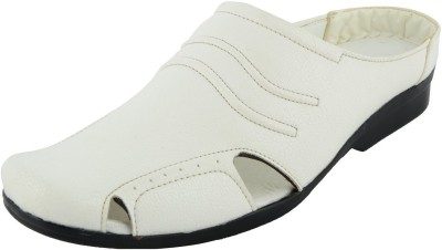 DOT-9 Men White Sandals