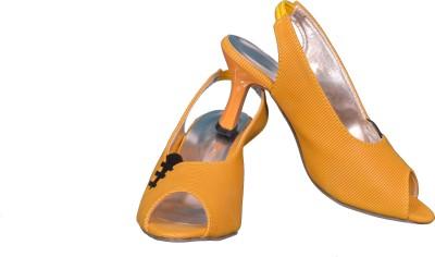 Cozy Women Yellow Heels