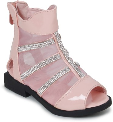 Zebra Girls Pink Sports Sandals