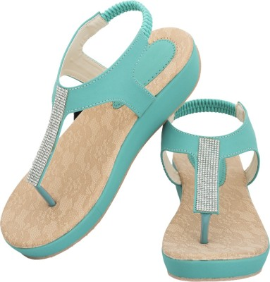 Fashion Victory Women Green Wedges