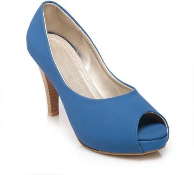 FEET N KNOTS Women Blue Heels