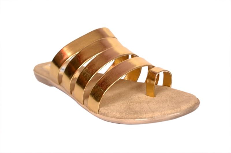 Bora Bora Women Gold Flats SNDEJYGGXZ3DY5AU