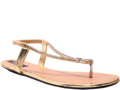 Rimezs Women Gold Flats