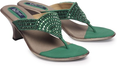 La Zilver Girls Green Heels