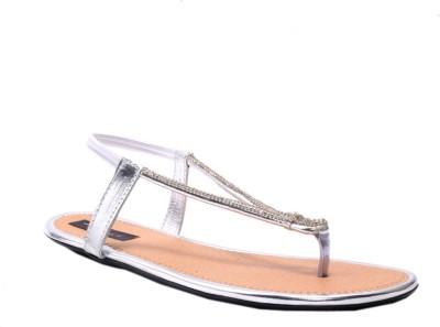 Rimezs Women Silver Flats