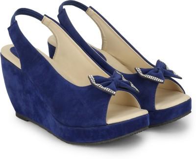 CSBS Sale Women Blue Wedges