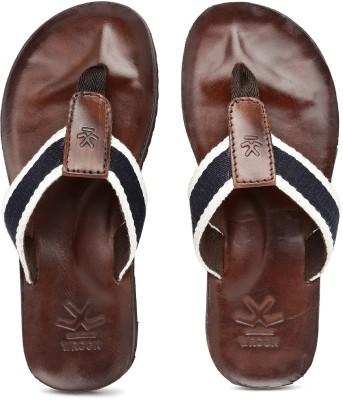 WROGN Men White, Navy Sports Sandals
