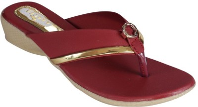 Recent Collection Women Maroon Wedges