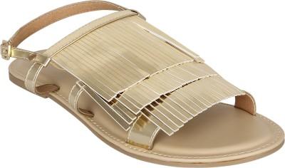 Zaera Women Gold Flats