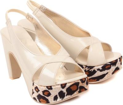 bare soles Women Beige Heels