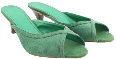 Shoya Designs Women Green Heels