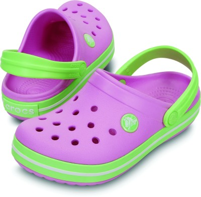Crocs Baby Boys, Baby Girls Green Sandals