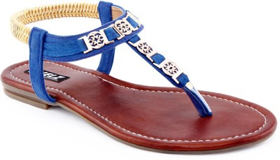 Kielz Kielz Ladies Footwear Sandals Women Blue Flats