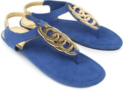 Urban Woods 661-9902-Blue Women Blue Flats