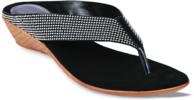 Studio 9 Comfy Mid Heel Women Black Silver Flats