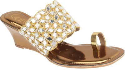 Catwalk Women Gold Heels