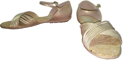 Rwak Women Gold Flats