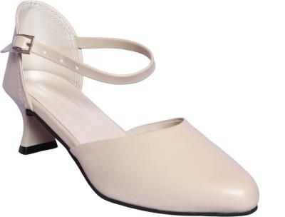Hannah Traders Women Beige Heels