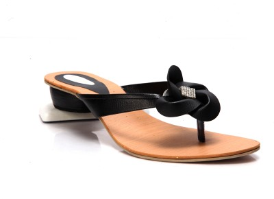 Laila Collections Late7150000bw Women Black Flats