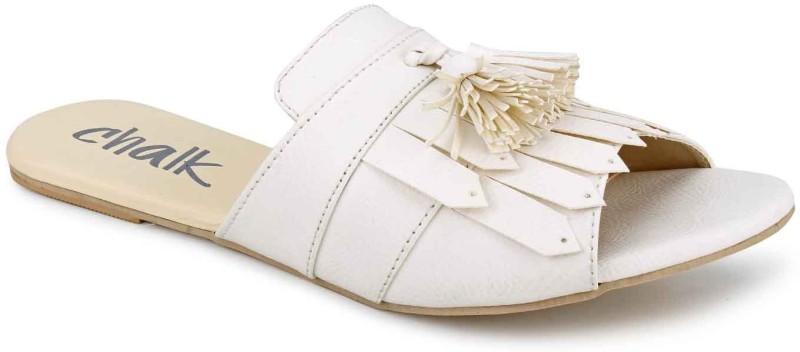 Chalk Studio Women White Flats
