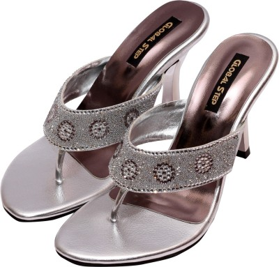 Global Step Women Silver Heels