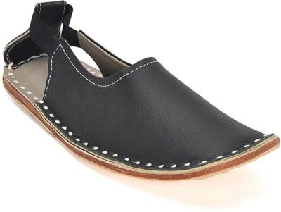 Paduki Ethnic Sandal Men Black Sandals