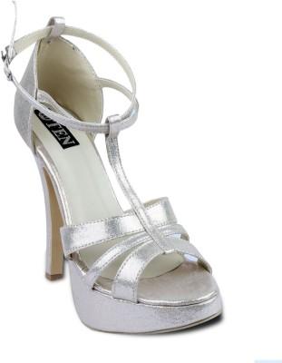 TEN Women Gold, Silver Heels
