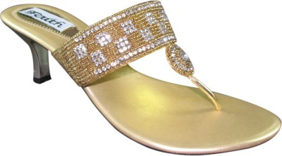 Faith 1000148 Women Gold Heels