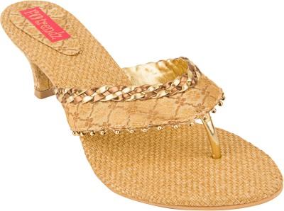 Footrendz Women Gold Heels