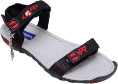 Footlooks Boys Black, Grey Sandals