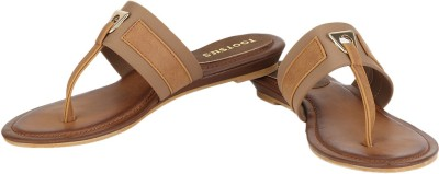 Tootsies Women Brown, Beige Flats