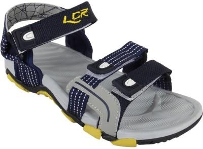 Lancer Men Navy, Yellow Sandals