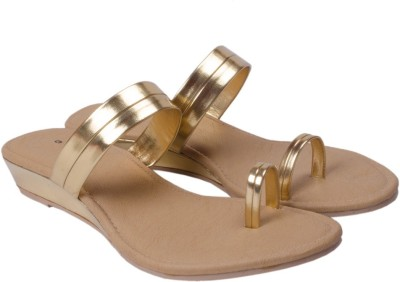 Wedeshi Women Gold Wedges
