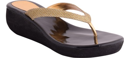 strapup Women Gold Wedges