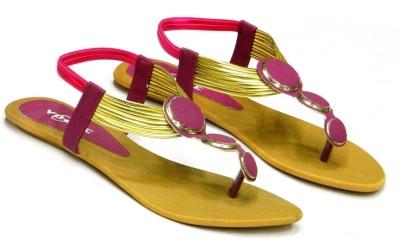 Vogue Women Purple, Gold Flats