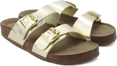 Madden Girl Brando Women Gold Flats