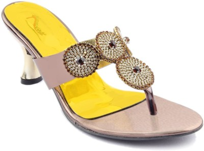 Womens Club Women Gold Heels
