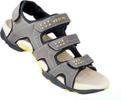 Vestire Men Grey, Beige Sandals