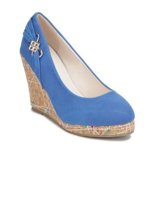 Yepme Women Blue Wedges