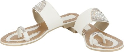 Zio Star Women White, Brown Flats