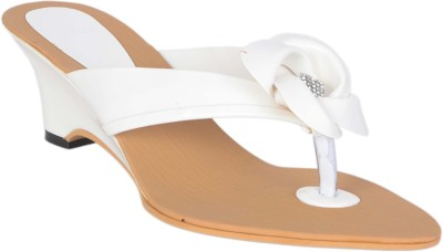 Aadi Women White Wedges