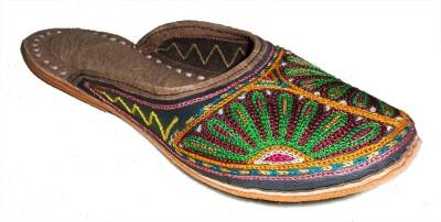 Krafto Women Olive, Multicolor, Camel Flats