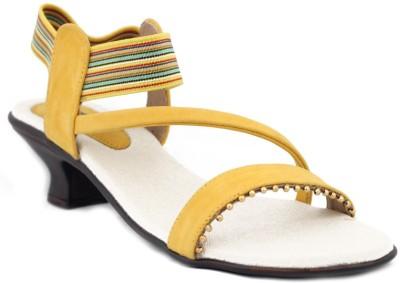 Trendy Enterprises Women Yellow Heels
