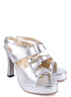 Urban Woods Women Silver Heels