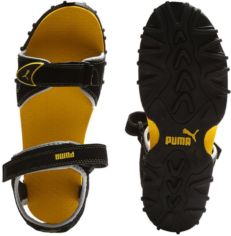 Puma TrackJrDP Boys, Girls Black Sandals